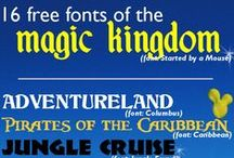 Disney World Fonts and Design / by Shannon, WDW Prep School