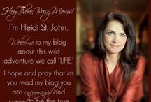 The Busy Mom Blog / A place where I, Heidi, and my friends write blog posts directed to busy moms like you. These posts can be encouraging, Christ centered posts, but we also have some fun ideas on the blog regarding motherhood and raising kids or homeschooling!