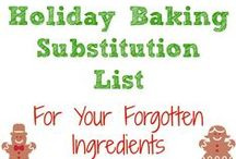 Baking Secrets / Baking Tips and Tricks, Ingredient Substitutions, Baking Measurements