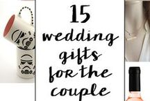 Wedding Gift Ideas / Great gifts for the husband and wife to be!