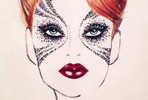 Face Charts  / Makeup Face Charts | Concepts for a very good makeup and costumes.  / by sarah steller