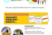 Milestones for SOSA Support / Each year we document the milestones achived....supporting orphans in Southern Africa.