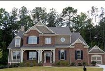 Traton Exteriors / Exterior combinations, brick, stone, paint color, elevations, landscaping, front doors, window details