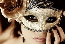 Mysterious Masks / There is something so alluring about a pair of eyes peeking out through an ornate mask. That air of mystery, that glint of mischief...