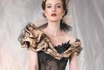 Gowns to Die For / Glamour, glitz, dreaming of occasions when wearing these dresses would be appropriate.