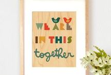 Kid Spaces: Letters + Words / My favorite inspirational art and letter-themed wall decor for kids and family spaces.