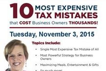 Our Seminars / If it's related to taxes and your money, we've got expert knowledge on how to keep your money in your pocket. / by Saunders Tax & Accounting