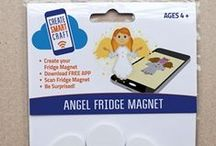 Shop - FAITH / CHRISTIAN / BIBLE THEME / Technology Enhanced DIY Fridge Magnet Kits. Download the FREE APP on your smart device, scan your completed fridge magnet and watch for awesome augmented reality and fun animations on your device screen and hear cool sound effects!