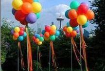 Balloon Ideas // Michelle's Party Plan-It / Fun and creative ideas for Balloons.