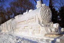 Amazing Chalk/ Sand/ Snow Art / by Vickie Padgett