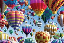 High Flyin' Hot Air Balloons / by Vickie Padgett