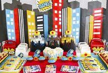 Superhero Party Ideas // Michelle's Party Plan-It / Superhero Birthday Party Ideas