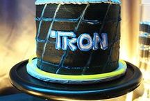 Tron Party Ideas // Michelle's Party Plan-It / Party ideas inspired by the Movie Tron and Tron Legacy