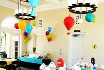 Transportation Party Ideas // Michelle's Party Plan-It / Planes, Trains and Automobiles! Children's birthday party ideas. Things that go beep beep and choo choo. Transportation birthday party ideas.