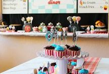 Retro Diner Party Ideas // Michelle's Party Plan-It / Diner and 1950s retro party ideas