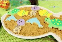 Under the Sea Party Ideas // Michelle's Party Plan-It / Party ideas, crafts and recipes for an Under the Sea and Mermaid themed party