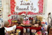 Cowboy Party Ideas // Michelle's Party Plan-It / Cowboy Party Ideas - Western Party, Round Up, Cowgirl, Cowboy party, crafts, DIY