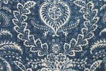 toile de jouy blue / vintage fabrics and prints