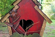Birdhouses / Colorful, pretty and some rustic birdhouses / by Peggy Thompson