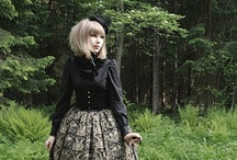 Gothic Lolita Style / Lolita Fashion is a fashion subculture originating in Japan that is based on Victorian-era clothing as well as costumes from the Rococo period, but the style has expanded greatly beyond these two. The Lolita look began primarily as one of modesty with a focus on quality in both material and manufacture of garments. The original silhouette is of a knee length skirt or dress with a 'cupcake' shape assisted by petticoats, but has expanded into various types of garments including corsets. / by Katie