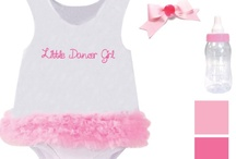 Girly Girl - Design A Doll Outfit Option 2 / The Girly Girl ensemble includes a onesie, a jacket, hair bow, socks, bottle, blanket and bib all based on a pink, frilly theme. *Note: some items, colors and graphics may change in final production. / by Paradise Galleries