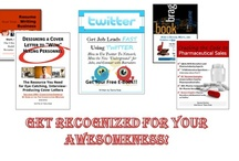 Career Books / Book topics include how to write amazing cover letters, how to land a job in pharmaceutical sales, utilizing an instant job search system for job-search results,how to write a quality brag book, how to write cover letters, and so on.