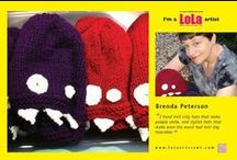 Hand Knit Monster Hats by Mellow Fury / I knit monster hats for adults, for children and for wee little babies. Check out some of my favorite, monstrous creations! Check out my Etsy store to see current monster for sale: www.mellowfury.com