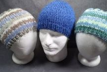 Stylish Knit Hats by Mellow Fury / Here is a selection of knit hats, some winter hats and some all year hats, from the Mellow Fury Etsy shop. See more hand knit hats and fingerless gloves at www.mellowfury.com