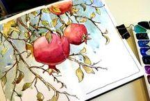 Sketch, Pen & Ink & Watercolor / My favorite pastime.