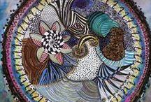 DOODLE ZEN TANGLE / Transform a simple doodle in a beautiful piece or art