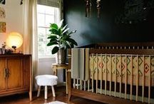 bohemian modern nursery / Magical rooms and spaces that inspire your little one to dream.