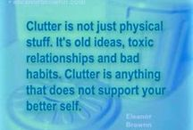 Declutter / Less is the new more.
