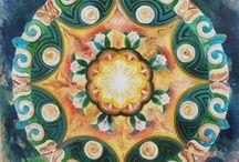 PINTURAS MÍAS-PAINTS MADE BY ME / Pinturas personales. Acrílico, Acuarela, Collage, Esmalte, etc. Varios temas. Flores, Mandalas. Geometria, Abstracto, etc.