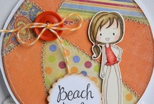 (AO) Cards~ Buddies at the Beach / May your blessings be countless, like grains of sand.