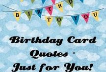 (AS) Cards ~ Birthday Sentiments