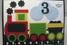 (ABD) Cards ~ Cars, Trains & Planes
