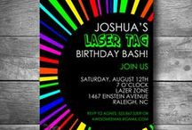 neon laser tag birthday / Inspiration for the cool laser tag birthday party we threw for my son.