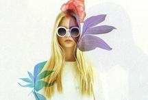 //Fashion & Illustration// / Loving the use of illustrations in fashion shoots.
