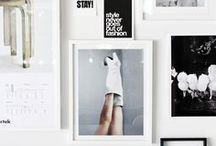 w a l l   &   a r t  / Wall art, decoration, framed, pictures, prints and inspiration walls