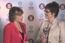 Tesco #MumoftheYear 2014 / Tesco #MumoftheYear Awards 2014 - Group B Strep Support's Chief Executive, Jane Plumb MBE, won the Campaigning Award, presented to her by Esther Rantzen