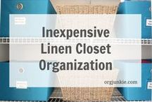 Organized Closets / Is your closet a mess?  Find out how to get your closet organized and clutter free once and for all. / by Laura (Organizing Junkie)