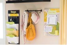 Organized Entryways / Ideas and inspiration for clutter free organized entryways / by Laura (Organizing Junkie)
