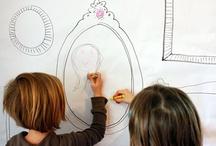 displaying kids art