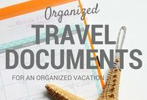 Organized Travel / Travel tips to keep you organized on your next trip. / by Laura (Organizing Junkie)