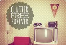 clean, organized, & clutter-free home