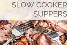 Slow Cooker Recipes / Slow cooker / crockpot recipes for busy nights.  Throw your dinner in the slow cooker in the morning when you aren't quite as frazzled and then be stress-free come dinner time. / by Laura (Organizing Junkie)