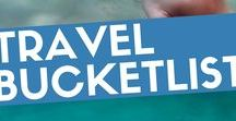 Travel | Bucket List / Must-See in the World. Destinations that make or made me dream. For my blog MyFavouriteEscapes.com