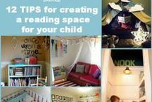 Book Nooks for Kids / Inspiration for setting up a reading space in your home