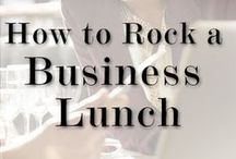 Meeting Food / Food that can be served at business meetings.  Food that can be ordered for business meetings.