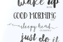 Inspiration - Text & Fonts / Inspiration & ideas that center around the written word.  Everything from inspirational quotes to creative and unusual fonts to use when using text.